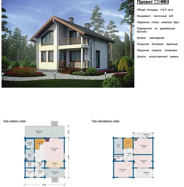 Проекты домов и коттеджей из профилированного бруса фото